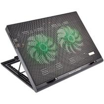 Cooler para Notebook Warrior Power Gamer LED Verde Luminoso Multilaser - AC267
