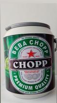 cooler térmico 10 latas cerveja ou refrigerantes  parede térmica em pp leve com alça - Injeplast