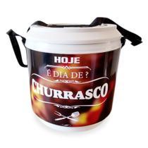 Cooler Térmico 24 latas Hoje é dia de Churrasco - Finaú Brindes