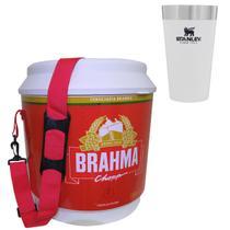 Cooler Térmico Brahma 20L 12 Latas + Copo Térmico Stanley 473 ml Branco - Ambev