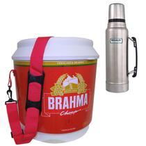 Cooler Térmico Brahma 20L 12 Latas + Garrafa Térmica Stanley Classic 1L Aço Inox - Ambev