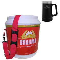 Cooler Térmico Brahma 20L com Alça + Caneca Térmica Cerveja 709ml Stanley Preto - Ambev