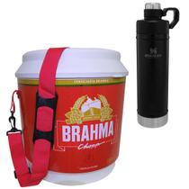 Cooler Térmico Brahma 20L com Alça + Garrafa Stanley 750ml Classic Hydration - Ambev