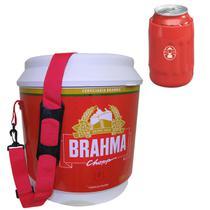 Cooler Térmico Brahma 20L com Alça + Porta Latas Térmico Flexivel 350ml Vermelho - Ambev