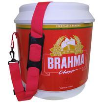 Cooler Térmico Brahma Brasil 20 Litros 12 Latas com Alça de Transporte Vermelho - Ambev