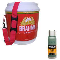 Cooler Térmico Brahma Brasil 20L 12 Latas + Garrafa Térmica Stanley 1L Adventure - Ambev