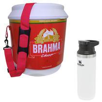 Cooler Térmico Brahma Brasil 20L 12 Latas + Garrafa Térmica Stanley 473ml Branca - Ambev