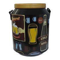 Cooler Térmico Para Bebidas 12 Latas com Alça - Vintage Preto - Artcooler