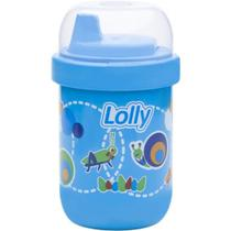 Copo Antivazamento Lolly Zoo Azul 250ml -