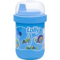 Copo Antivazamento Lolly Zoo Azul 250ml -