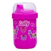 Copo Antivazamento Lolly Zoo Rosa 250ml -
