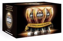 Copo brahma black 450ml - caixa com 6 unidades -