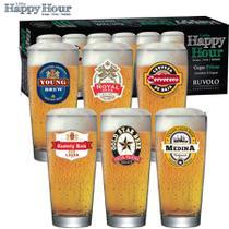 Copo Cerveja Ruvolo Happy Hour Prime M 300ml (kit 6 Peças) -