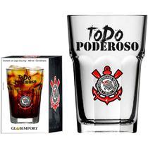 Copo de Cerveja Corinthians Todo Poderoso Vidro 400ml - Globimport