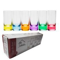 copo de dose colo 10ml c/6 de vidro - Unicasa
