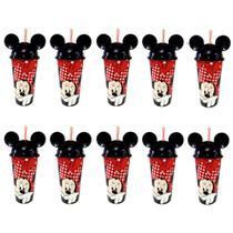 Copo de Festa da Minnie com Orelhas p/ Doces e Lembrança - Kit com 10 - Plasutil
