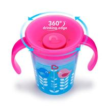 Copo de Treinamento - 177 ml - Miracle 360 - Deco -Rosa e Azul - Munchkin -