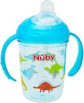 Copo Infantil Com Alça e Bico de Silicone Tritan Azul Nûby - Cajovil