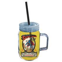 Copo Jarra Acrílico DC Superman Amarelo - Geek10