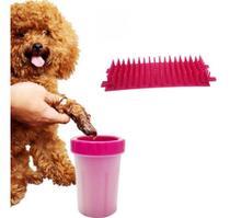 Copo Limpador Limpa Patas Patinhas De Cachorro Cão Rosa - TOP TOTAL