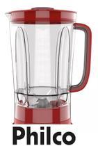 Copo Liquidificador Philco Ph900 Vermelho Com 06 Laminas - Britania -