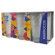 Copo Long Drink 350mL c/6 Marrocos Colorex 26450201205260 -