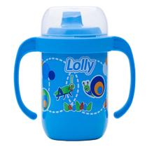 Copo para bebes antivazamento com alça azul - Lolly