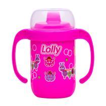 Copo para bebes antivazamento com alça rosa - Lolly
