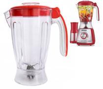 Copo para Liquidificador Mondial Eletronic Inox Vermelho 850w Red -