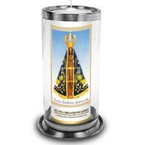 Copo porta velas sete 7 dias suporte antichama vidro e aluminio - Urban Zen