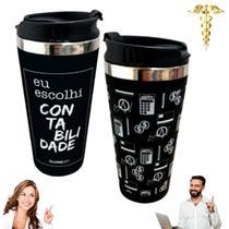 Copo Térmico Profissões Contabilidade 450 ml Sucos Chá Café - Casual Gift