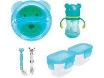 Copo Transição 180ml + Kit Colher para Bebê  - 2 Peças + Jogo de Potes 2 Peças + Prato Buba