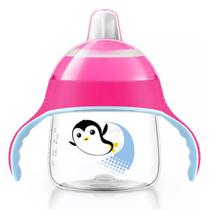 Copo Treinamento Pinguim 200ml Rosa - Philips Avent