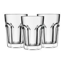 Copos 12 Unid Original Line Glass 400ml - Vidro Grosso Resistentes -