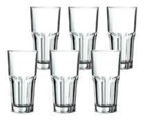 Copos 6 Unid Original Line Glass - Vidro Grosso Resistente - OURO LUSTRE