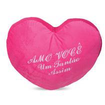Coração de Pelúcia Amo Você Pink 50 cm Antialérgico - Ctx