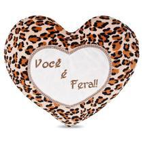 Coração de Pelúcia Você é Fera 40 cm Antialérgico - Ctx