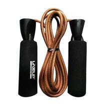 Corda De Pular C/ Rolamento Liveup Sports LS3120 2.65m Preta/Marrom -