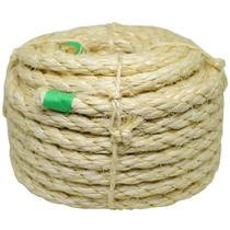 Corda de sisal rolo 10mm x 15 metros torcida cor natural Apaeb -
