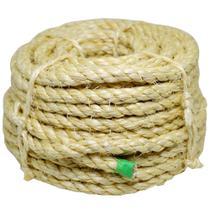 Corda de sisal rolo 6mm x 15 metros torcida cor natural Apaeb -