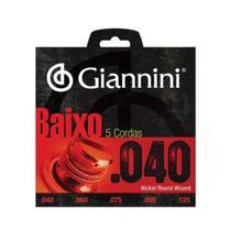 Corda Giannini  Contrabaixo Geebrl 5 0.040&Quot Leve -