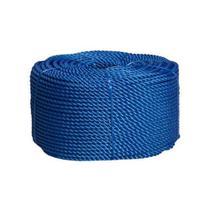 Corda nylon torcida  6mm azul rolo 220 mts 4kg aprox - IND. E COM. DE CORDAS OESTE LT