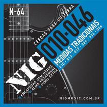 Corda Para Guitarra 010 N-64 NIG -