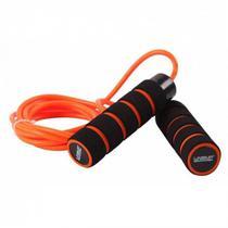 Corda Pular C/ Peso E Rolamento Liveup Sports LS3124 Preta/Lranja -