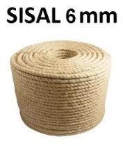 Corda Sisal Natural 6mm Artesanato Uso Geral 30 Metros - Embrafios