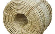 Corda Sisal Natural Resistente Acabamento Fino 10mm 50 Mts -