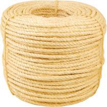 Corda sisal torcida 8,0mm 10,5kg 220 metros natural - Vonder -