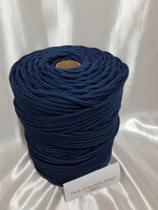 Corda Trançada Azul Marinho 6mm - Só Cordas