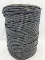 Corda Trançada Polipropileno 6mm Preta - Só Cordas