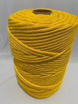 Corda Trançada Polipropileno Amarela de 6mm - Só Cordas